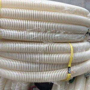 ống gân nhựa trắng